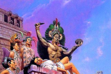 Sacrificio azteco per calmare le divinità